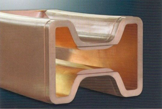 China Cr - Plating Copper Mould Tube , Continuous Casting Mould Outer Contour Parallel supplier