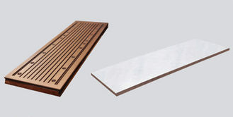 China Longer Funels Copper Mould Plate and wide Type Shorter Funel With Good Thermal Performance supplier