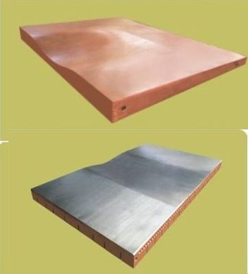 China Chrome Coating Copper Sheet Plate , Low Carbon 1 Mm Thick Copper Sheet For Casting Machine factory