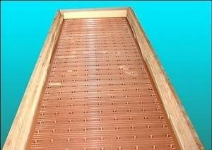 China Narrow Wider Sides Copper Mould Plate Square Structural With Long Or Short Funel distributor