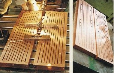 Copper Mould Plate For Low Carbon steel Continuous Casting Machine with ISO Certification