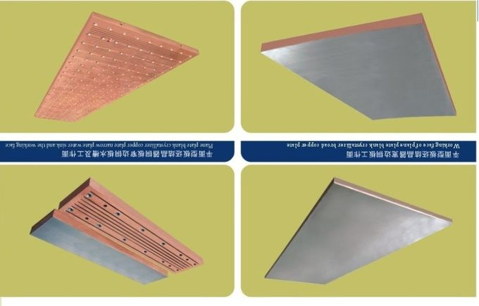 Narrow Wider Sides Copper Mould Plate Square Structural With Long Or Short Funel