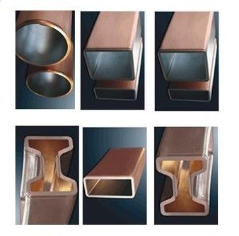 Convex Tapered Copper Mould Plate Various Shape Rectangular Billet Suitable For CCM Mould Design