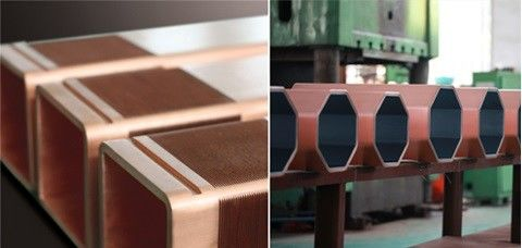 CCM Straight Or Curved  Outer Contour Parallel H beam Copper Mould Tube